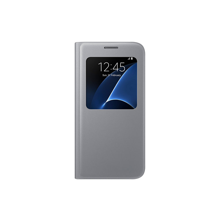 Flipové pouzdro S View Cover pro Samsung S7 (G930), stříbrné