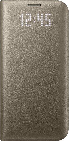 Flipové pouzdro LED View Cover pro Samsung S7 Edge, zlaté