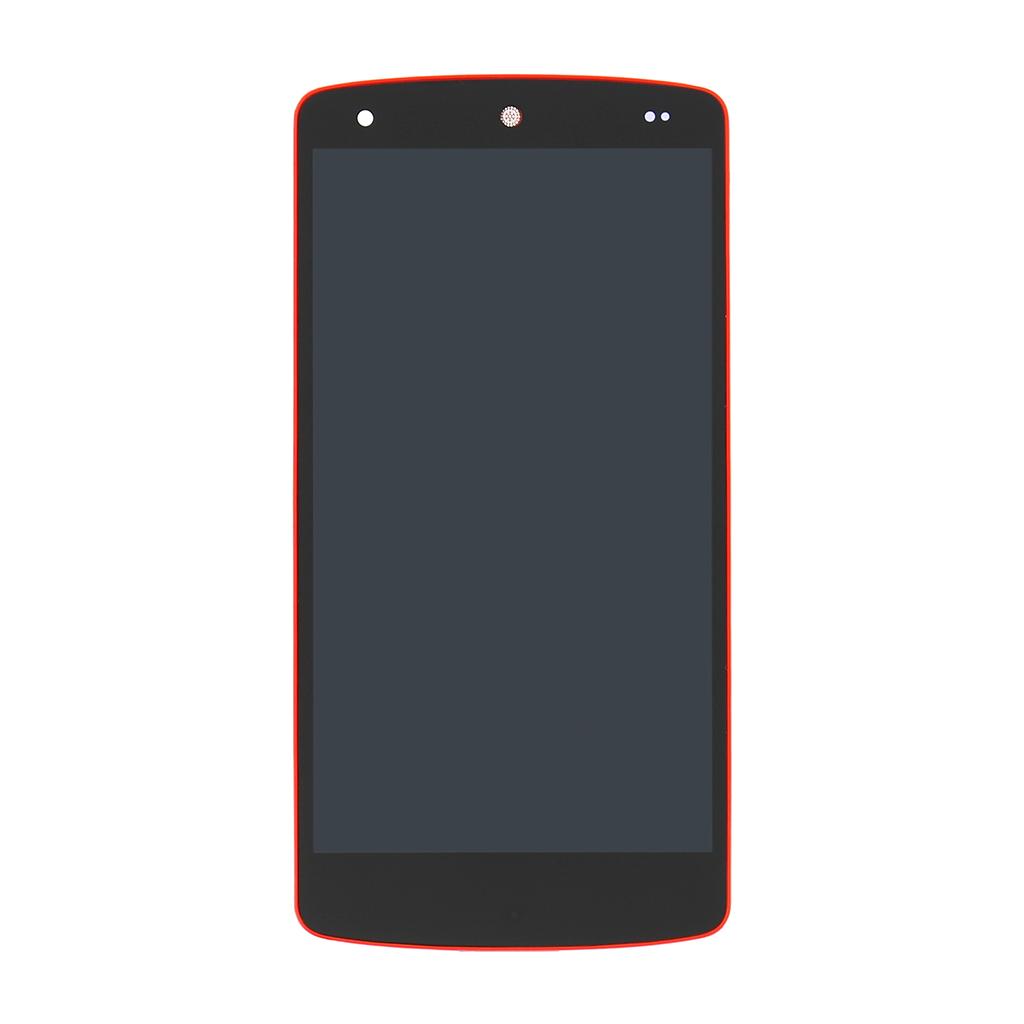 LCD display + dotyk. deska + př. kryt pro LG Nexus 5 (D821), červená (Service Pack)