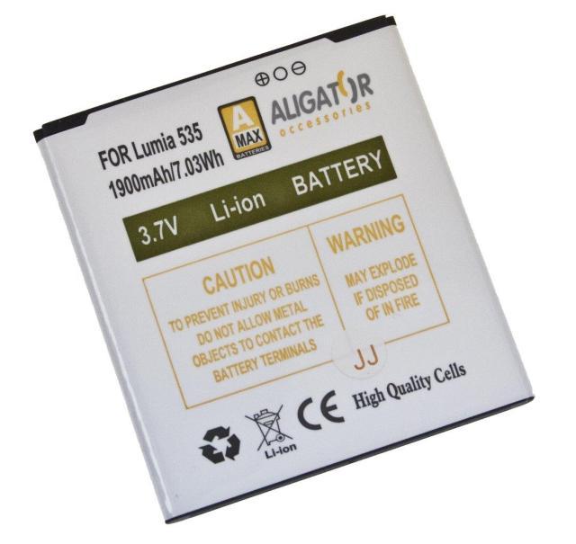 Baterie Aligator BL-L4A pro Microsoft Lumia 535 Li-Ion, 1900mAh