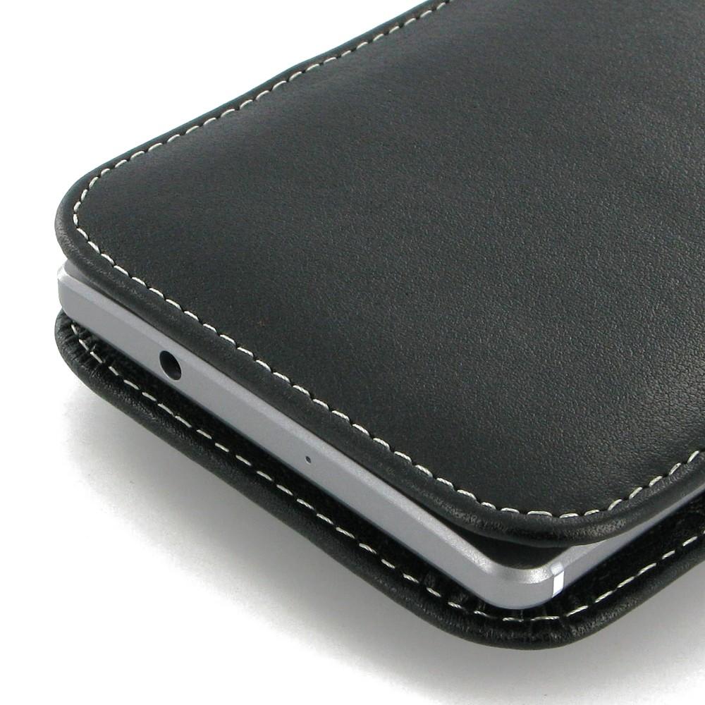 Originální pouzdro HUAWEI Leather protective pro Mate 8, černé