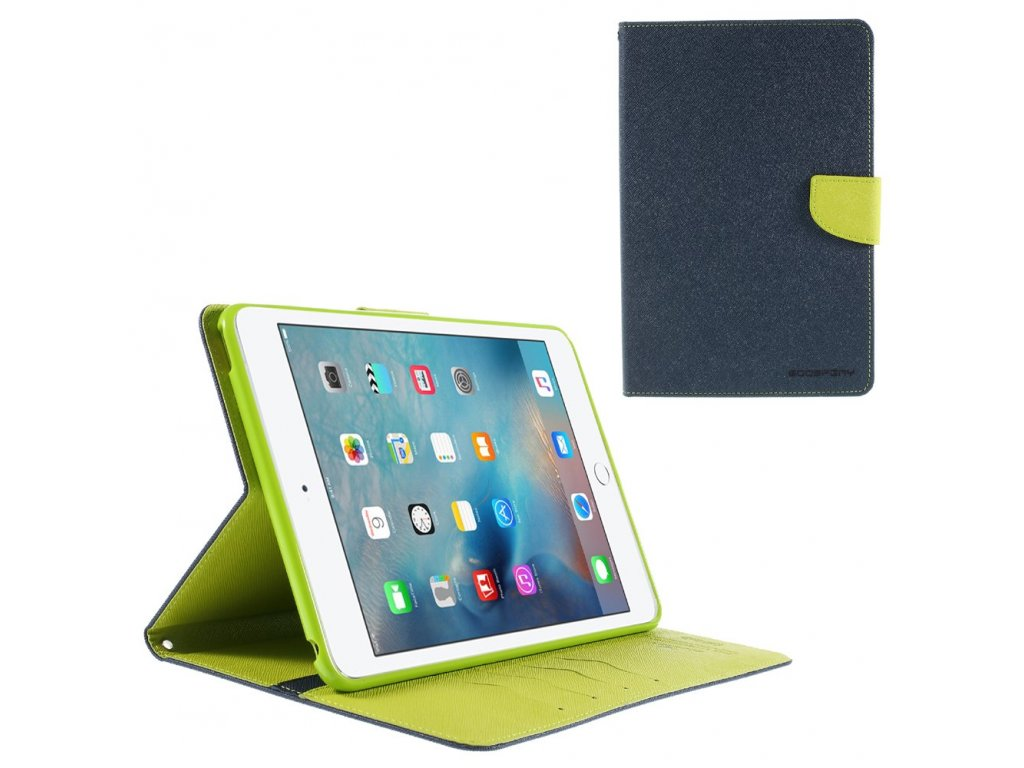 Flipové pouzdro pro iPad Air Fancy Diary modré/limetkové