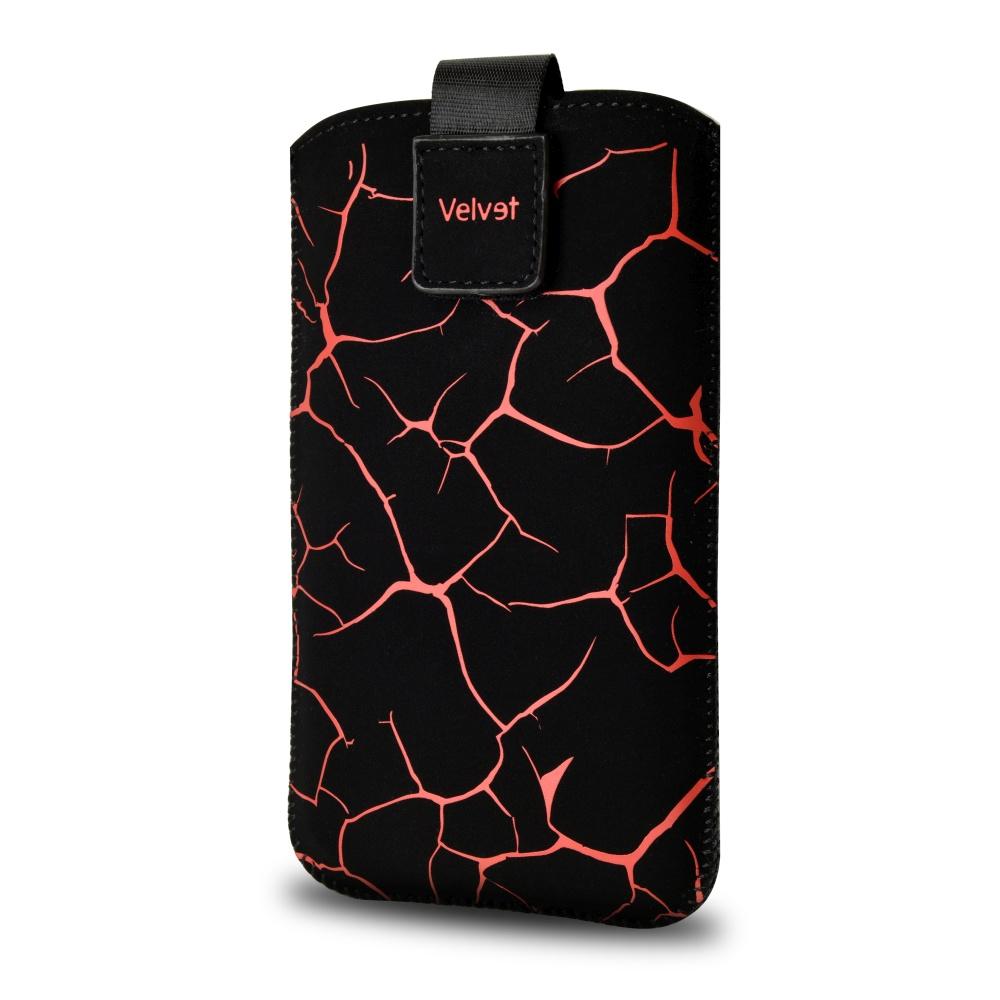 FIXED Velvet univerzální pouzdro, mikroplyš, motiv Red Split, velikost XL