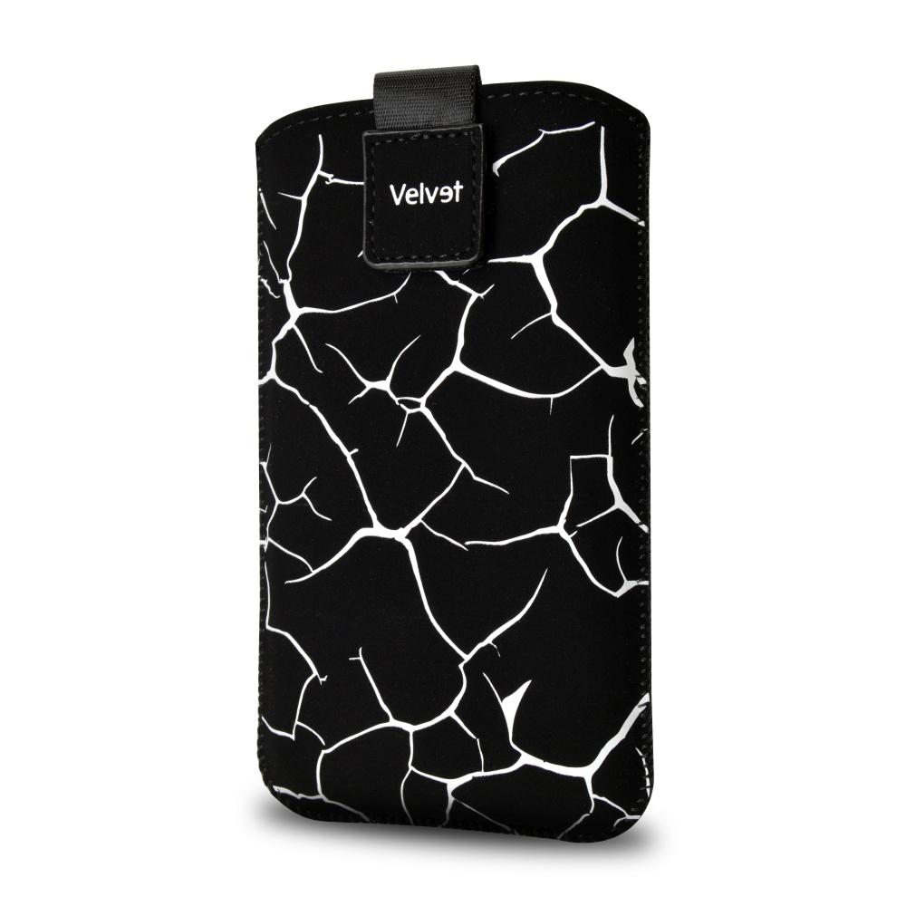 FIXED Velvet univerzální pouzdro, mikroplyš, motiv White Split, velikost XL
