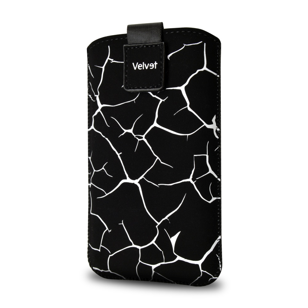 FIXED Velvet univerzální pouzdro, mikroplyš, motiv White Split, velikost 5XL