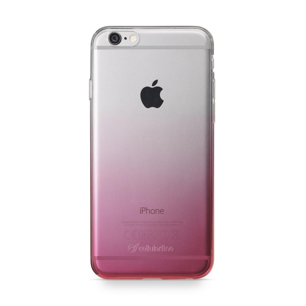 CellularLine SHADOW zadní kryt pro Apple iPhone 6/6S, průhledný růžový