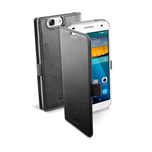 Pouzdro CellularLine Book Essential pro Huawei Ascend Mate S, černé