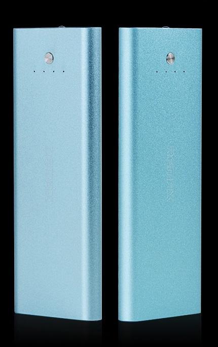 Power bank 5000 mAh - aluminium - modré