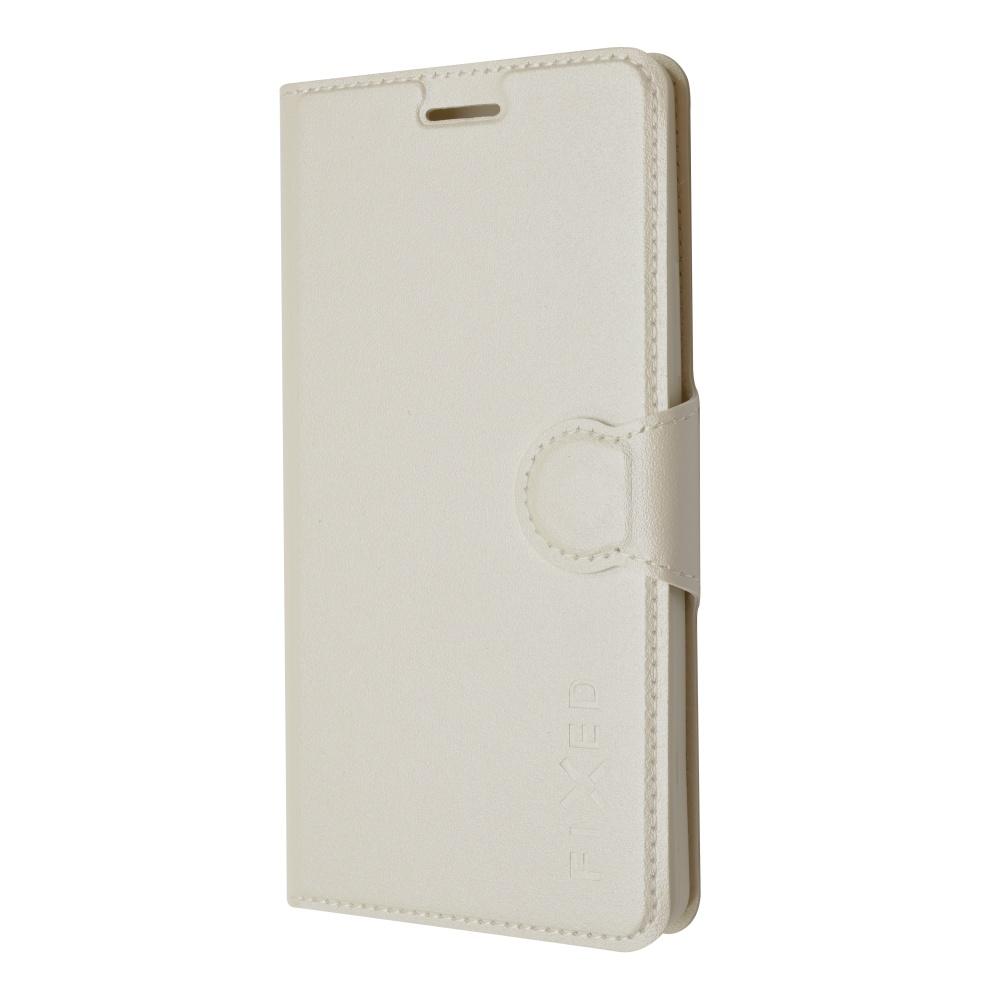 FIXED flipové pouzdro pro Lenovo Vibe P1m, bílé
