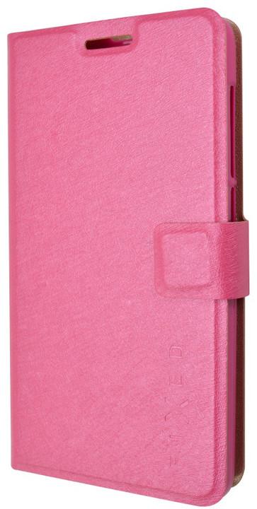 FIXED flipové pouzdro pro Lenovo Vibe P1m, růžové