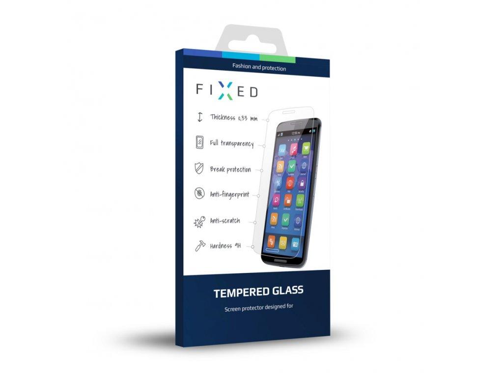 Tvrzené sklo pro Apple iPhone 6/6S FIXED přes celý displej, bílé, 0.33 mm