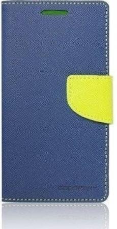 Pouzdro na mobil Sony Xperia M2 Mercury Fancy Diary Folio modro/limetkové