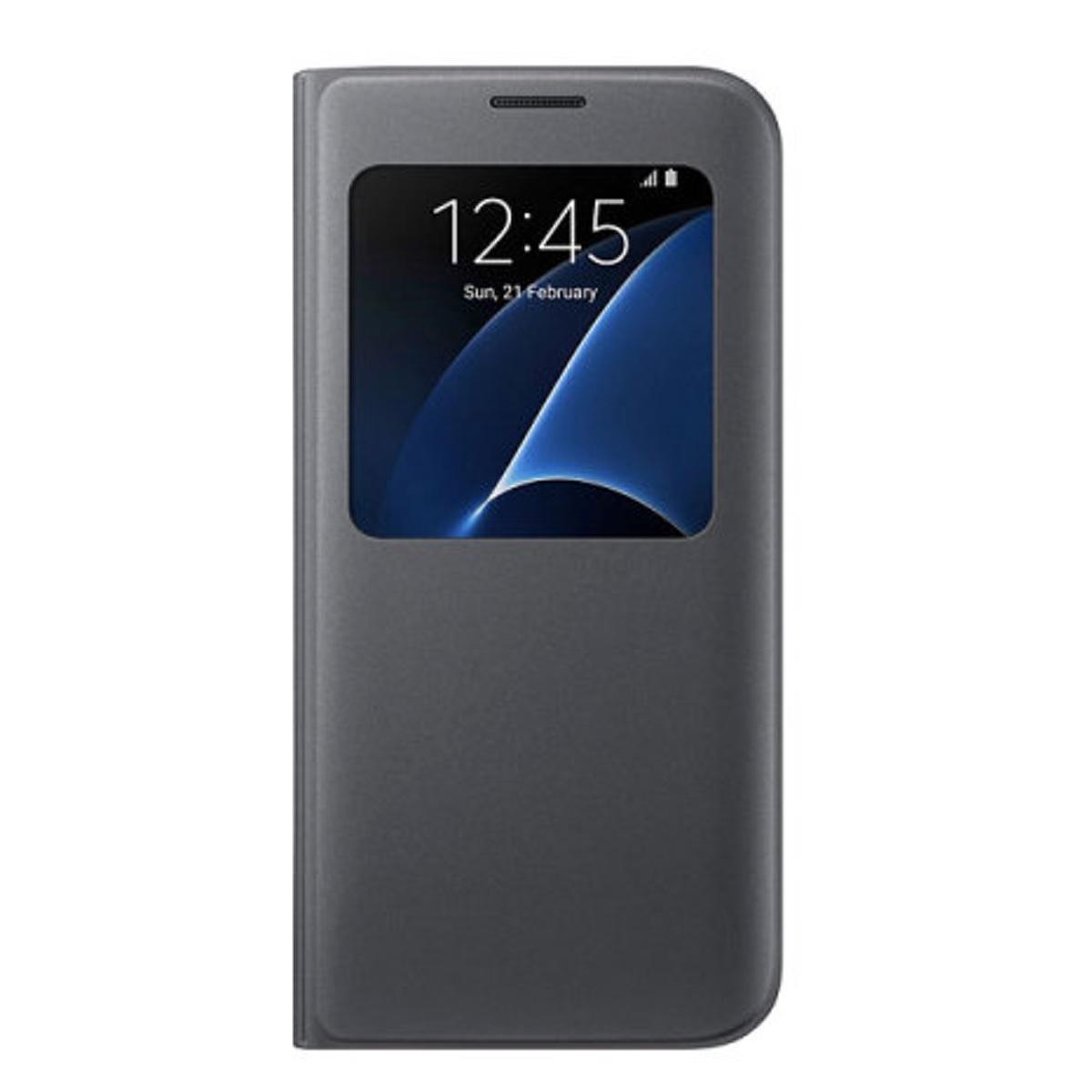 Pouzdro S-View pro Samsung Galaxy S7 Edge G935 (EU Blister) černé EF-CG935PBE