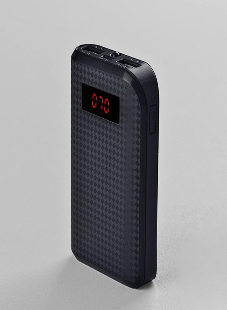 Remax Power bank 10000 mAh - design carbon - černá