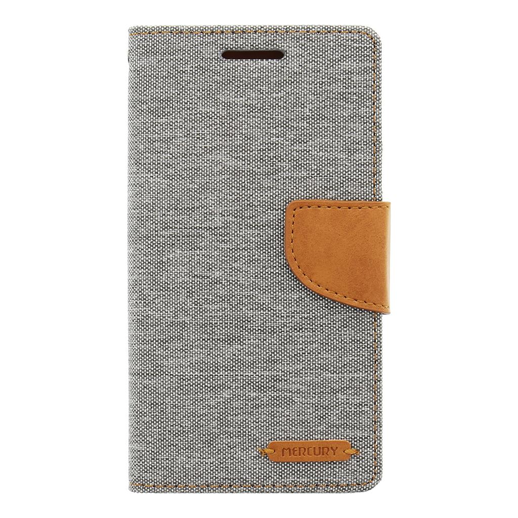 Pouzdro Mercury Canvas Diary pro Samsung Galaxy A5 A510 2016 šedo/hnědé