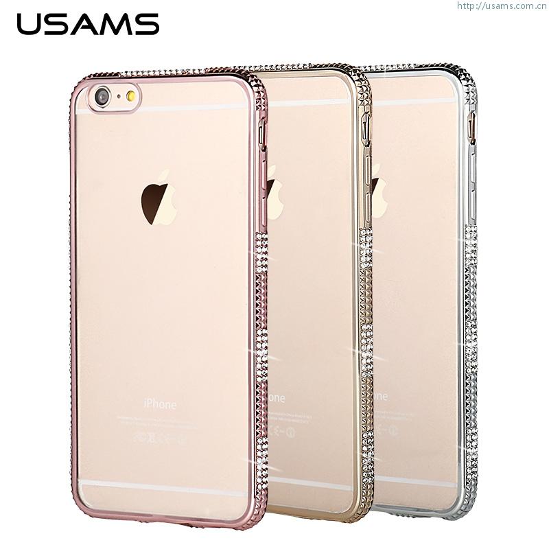 Pouzdro Queen USAMS pro iPhone 6 6S Plus růžový - TPU 843ce00ded2