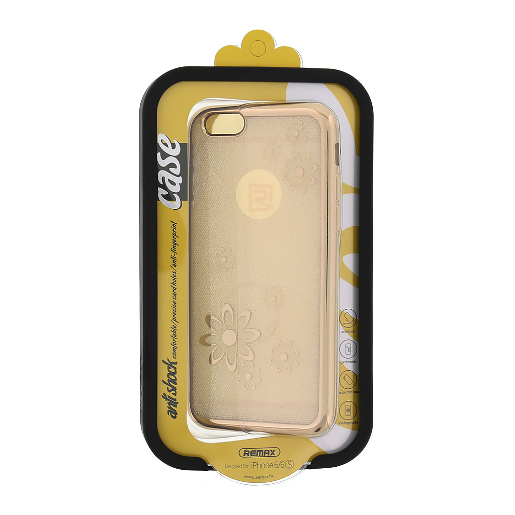 Pouzdro Remax pro iPhone 6/6S Gold Flower2