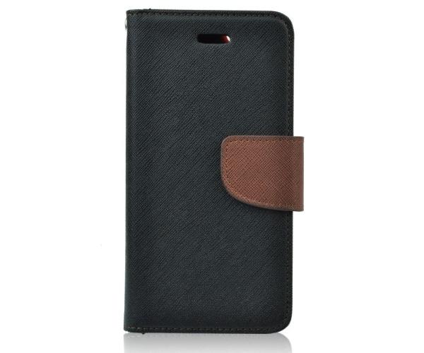 Pouzdro Fancy Diary Folio pro Samsung Galaxy S7 (SM-G930F) černo/hnědá