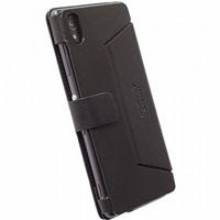 Flipové pouzdro Krusell MALMÖ FlipWallet pro Sony Xperia M4 Aqua/M4 Aqua Dual, černé