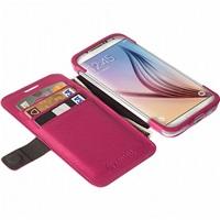Flipové pouzdro Krusell MALMÖ FlipWallet pro Samsung Galaxy S6/S6 edge, jasně červená