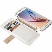 Flipové pouzdro Krusell MALMÖ FlipWallet pro Samsung Galaxy S6/S6 edge, bílá