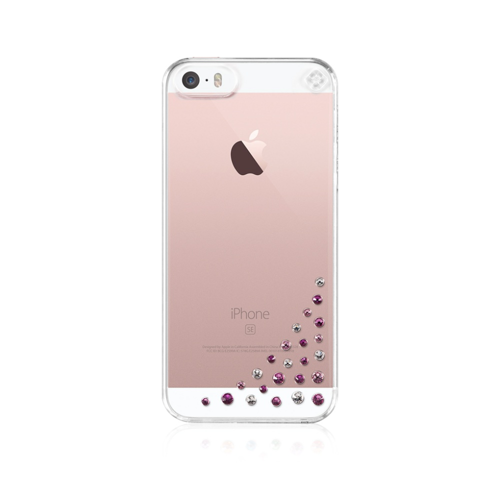 Bling My Thing pouzdro Diffusion Pink Mix Apple iPhone 5/5s/SE, SWAROVSKI®