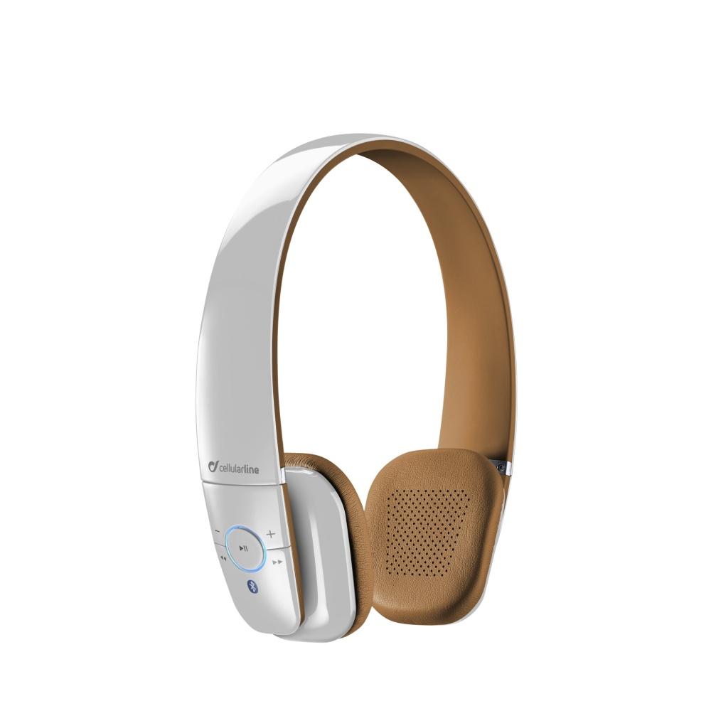 CellularLine FLY Bezdrátová sluchátka Bluetooth bílá