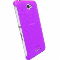 Zadní kryt Krusell FROSTCOVER pro Sony Xperia E4/E4 Dual, fialový