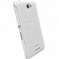 Zadní kryt Krusell FROSTCOVER pro Sony Xperia E4/E4 Dual, bílý