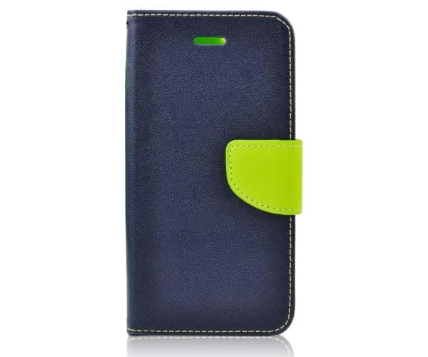 Pouzdro na mobil na LG K4 (K120E) Mercury Fancy Diary Folio modré/limetkové