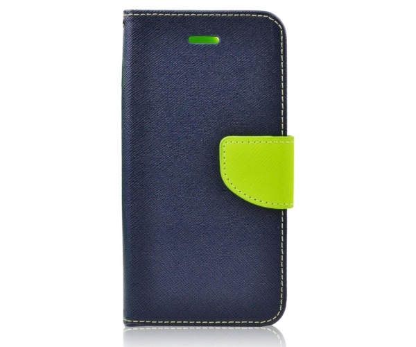 Pouzdro na mobil LG K10 (K420N)Mercury Fancy Diary Folio modré/limetkové