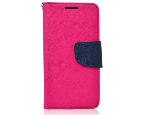 Pouzdro Fancy Diary Folio pro LG K10 (K420N) růžovo-modrá