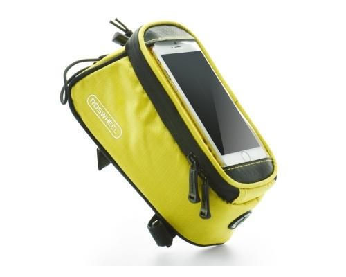 "Držák na kolo ROSWHEEL s pouzdrem na telefon do 5,5"", yellow"