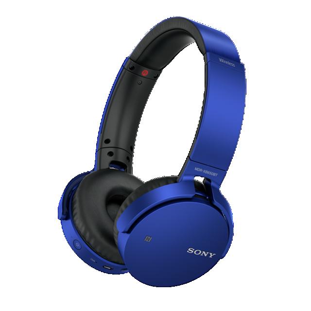 Sluchátka SONY MDR-XB650BT bezdrátová handsfree modrá