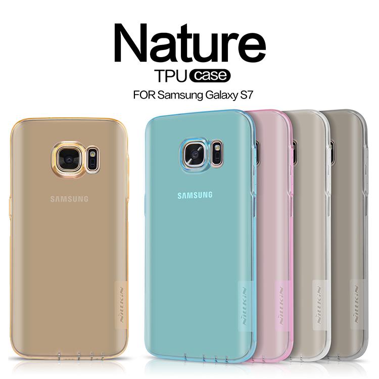 Silikonové pouzdro Nillkin Nature pro Samsung Galaxy S7 ( G930 ) šedé