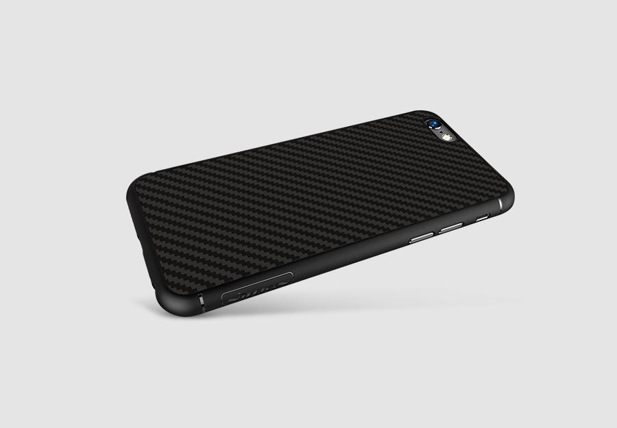 Ochranný zadní kryt Nillkin Synthetic Fiber Carbon pro iPhone 6/6S černý