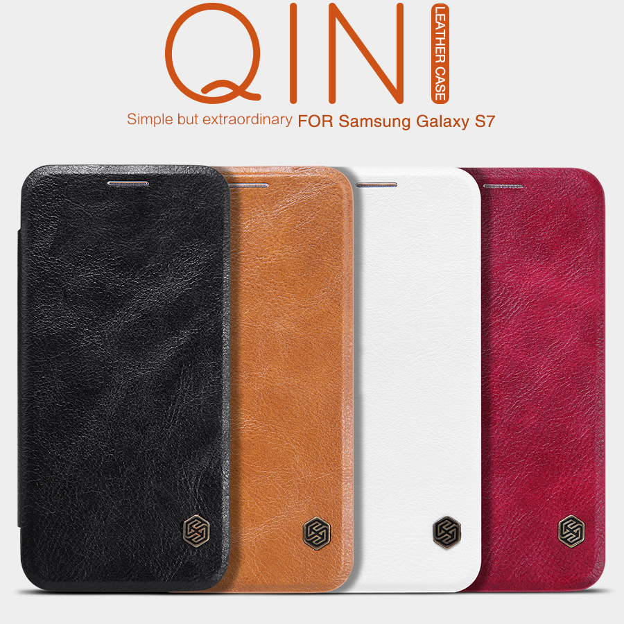 Pouzdro Nillkin Qin Book na Samsung Galaxy S7 (G930) hnědá