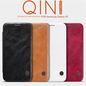 Pouzdro Nillkin Qin Book na iPhone 5/5S/SE bílé