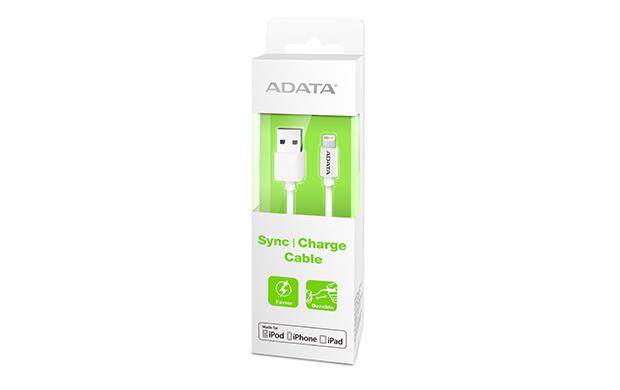 ADATA Lightning kabel USB A 2.0 plastový bílý 1m
