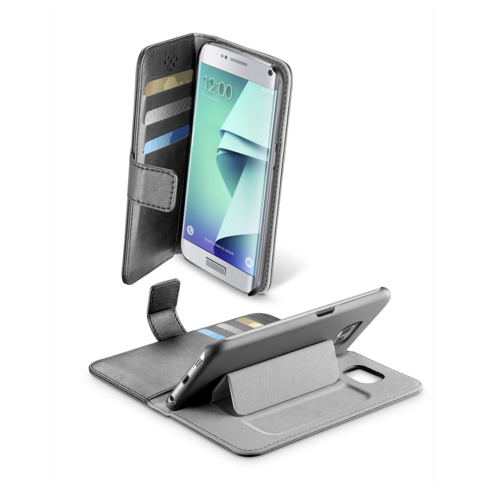 CellularLine Book Agenda Pouzdro flip Samsung Galaxy S7 Edge černé