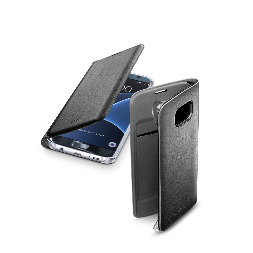 CellularLine FLIP BOOK pouzdro Samsung Galaxy S7 Edge černé