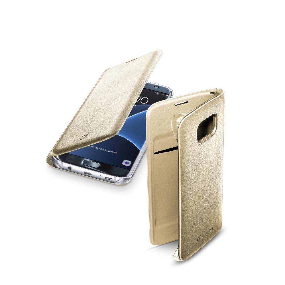 CellularLine FLIP BOOK pouzdro Samsung Galaxy S7 Edge zlaté