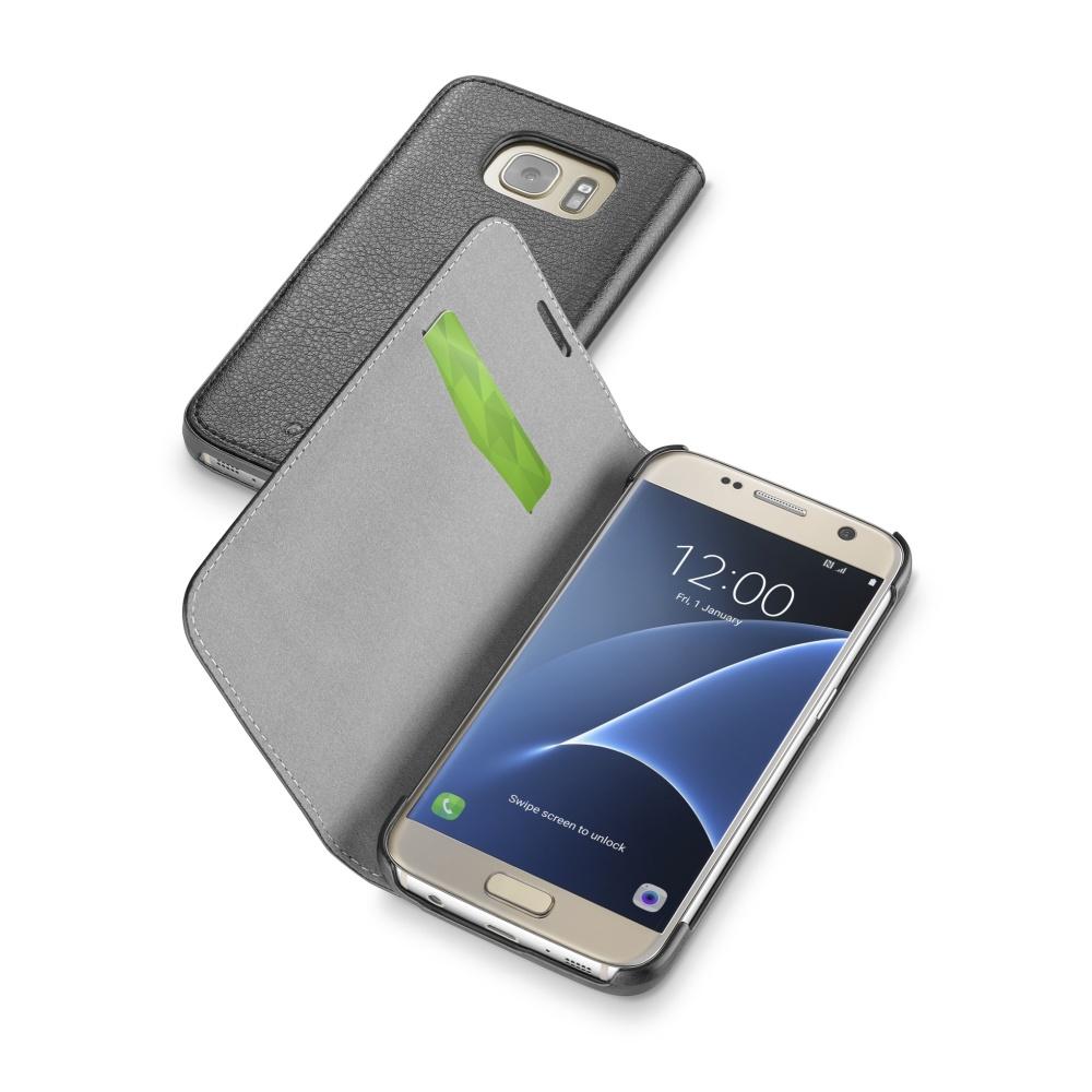 CellularLine Book Essential pouzdro flip Samsung Galaxy S7 černé
