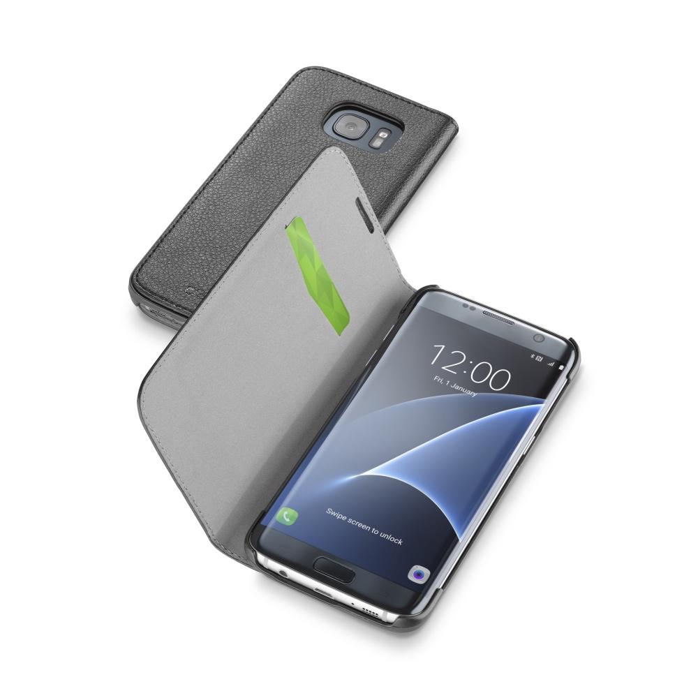 CellularLine Book Essential pouzdro flip Samsung Galaxy S7 Edge černé