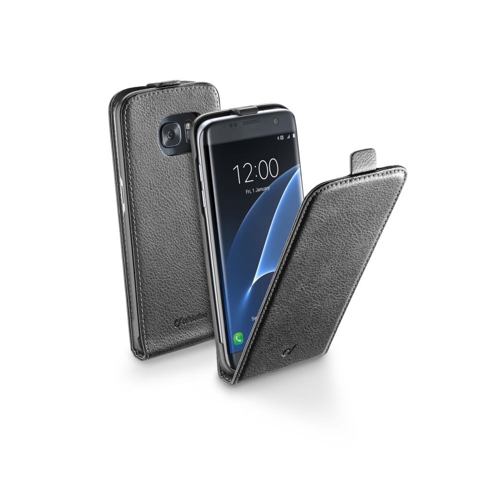 CellularLine Essential FLIP pouzdro Samsung Galaxy S7 Edge černé