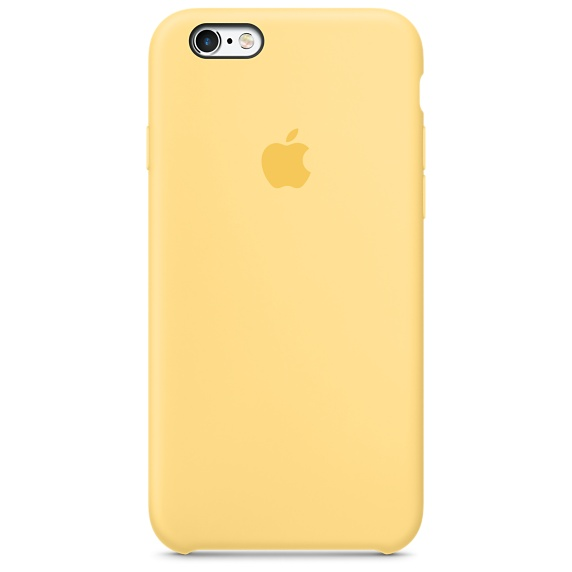 Zadní kryt na Apple iPhone 6s Silicone Case - Yellow