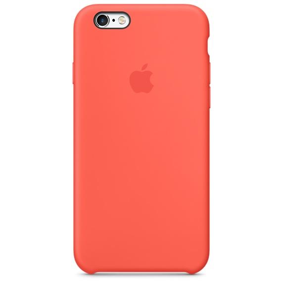 Zadní kryt na Apple iPhone 6s Silicone Case - Apricot