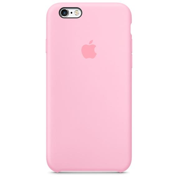 Zadní kryt na Apple iPhone 6s Silicone Case - Light Pink