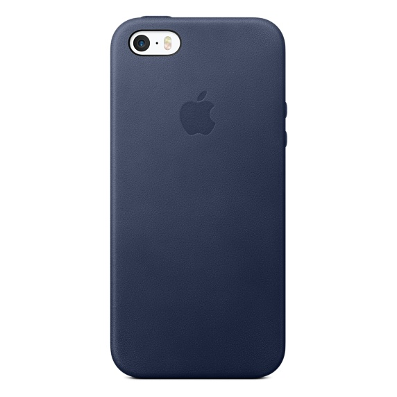 Zadní kryt na Apple iPhone SE Leather Case - Midnight Blue