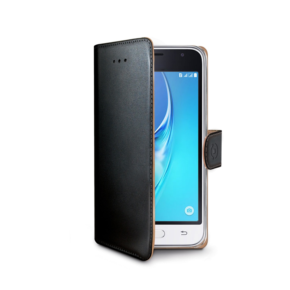 CELLY Wally Pouzdro flip na Samsung Galaxy J1 2016 černé